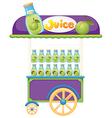 A guava fruit juice cart vector