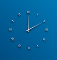 Clock dial numeral with shadows vector