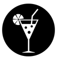Cocktail glass icon vector