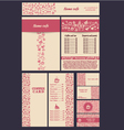 Coffee menu hand set 5 vector