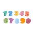 Colorful numbers vector