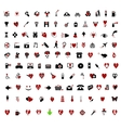 Over 100 stylish valentine themed icons vector