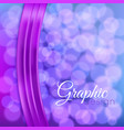 Bokeh background with a ribbon vector