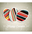 Retro paper easter egg card vector