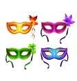 Colorful carnival masks set vector