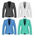 Formal work wear ladies suit jacket vector