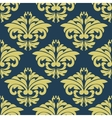 Vintage floral yellow damask seamless pattern vector