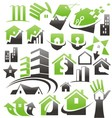 Set of house icons symbols and logos vector