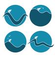 Sea symbols vector