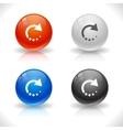 Website template buttons vector