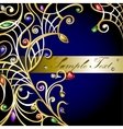 Gold jewerly background vector