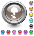 Tree round button vector