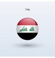 Iraq round flag vector
