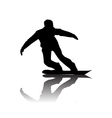 Silhouette of snowboarder vector