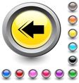Back arrow round button vector