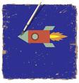 Drawing paint of cartoon rocket vector