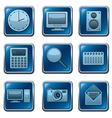 Computer applications buttons vector