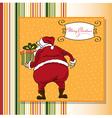 Christmas greeting card with santa vector