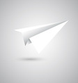 Paper plane fly on gray background vector