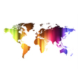 Concept of global business with world map vector