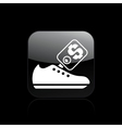 Shoe sale icon vector