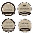 Retro design premium vintage labels vector