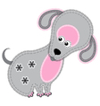 Cute cartoon isolated fabric animal dog vector