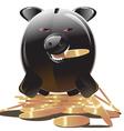 Evil greedy piggy bank vector