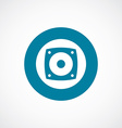 Speaker icon bold blue circle border vector