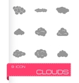 Clouds icons set vector