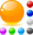 Glossy balls vector