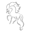 Image of an horse on white background vector