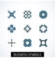 Minimal flat geometric business symbols icon set vector