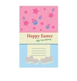 Easter day card vector