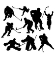 Hockeyplayers vector