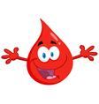 Happy red blood drop vector