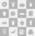 Bakery and drinks elements for coffee shop vector