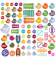 Promotional stickers vector