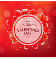 Red happy valentines day card vector