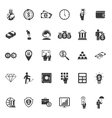 Large set of money banking and finance icons vector