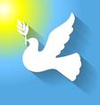 Flat dove sun vector