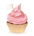 Flag cupcake vector