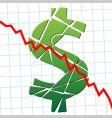 Finance chart vector