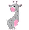 Cute cartoon isolated fabric animal giraffe vector