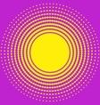 Halftone circle texture vector