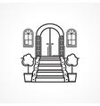 Line icon for front door vector
