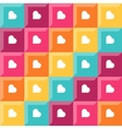 Pattern - diamond shaped elements and hearts vector