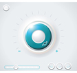 Heavy duty safe dial with clipping path vector