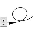 Plug in electric energy outlet copy space cord vector