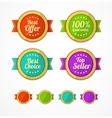 Flat vintage labels template set vector